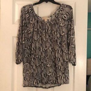 Michael Kors snakeskin 3/4 length shirt